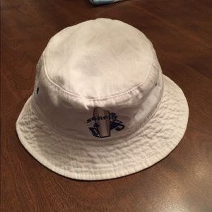Other - Boys hat, reversible, white and blue/white